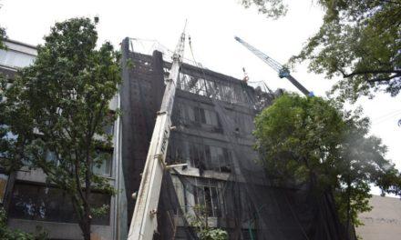 Finalizan demolición de inmueble afectado por el sismo