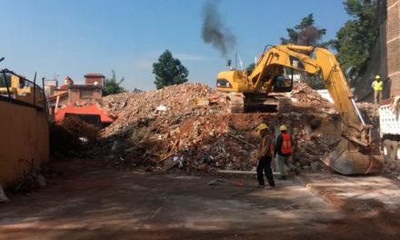 Continúan trabajos en inmuebles afectados por sismo 19S