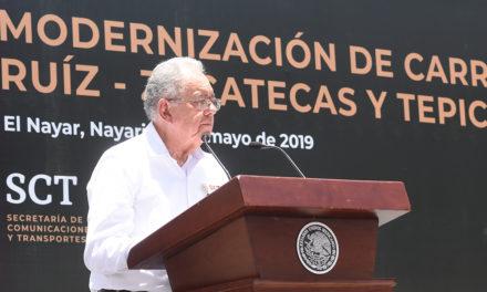 Modernización de las carreteras Durango-Tepic y Ruiz-Zacatecas