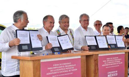 Ampliarán y modernizarán aeropuerto de Tamuín en San Luis Potosí.