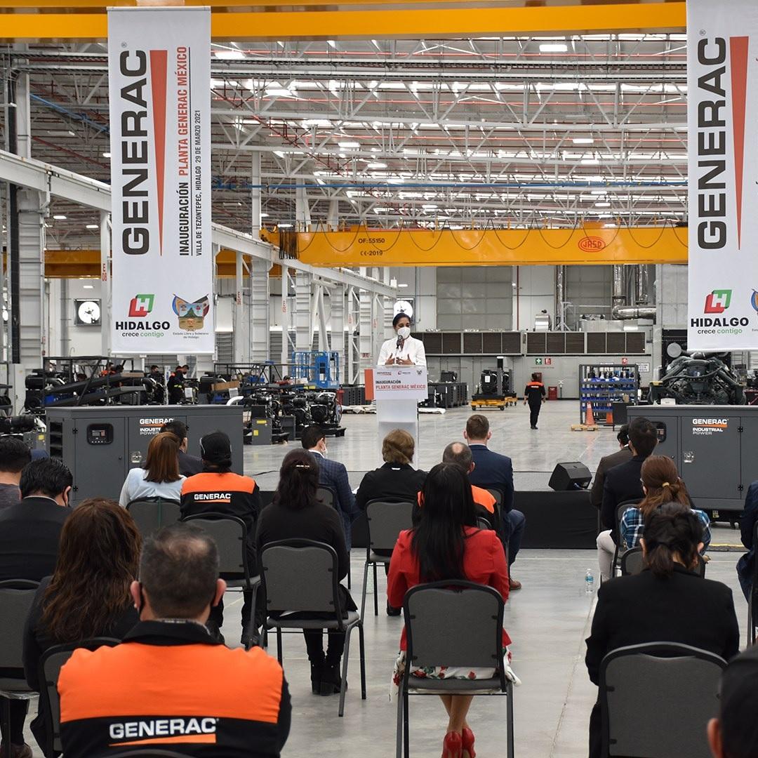 Generac inaugura nueva planta en Villa de Tezontepec, Hidalgo